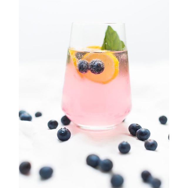 Blueberry, Basil And Lemon Gin & Tonics