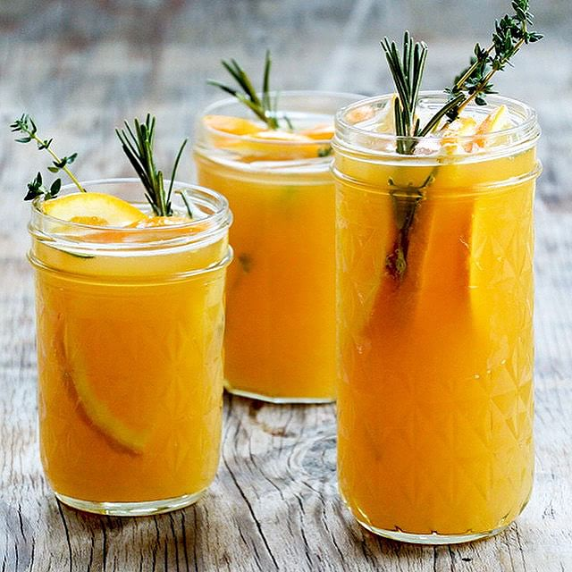 Orange And Rosemary Sangria With Wheat Ale