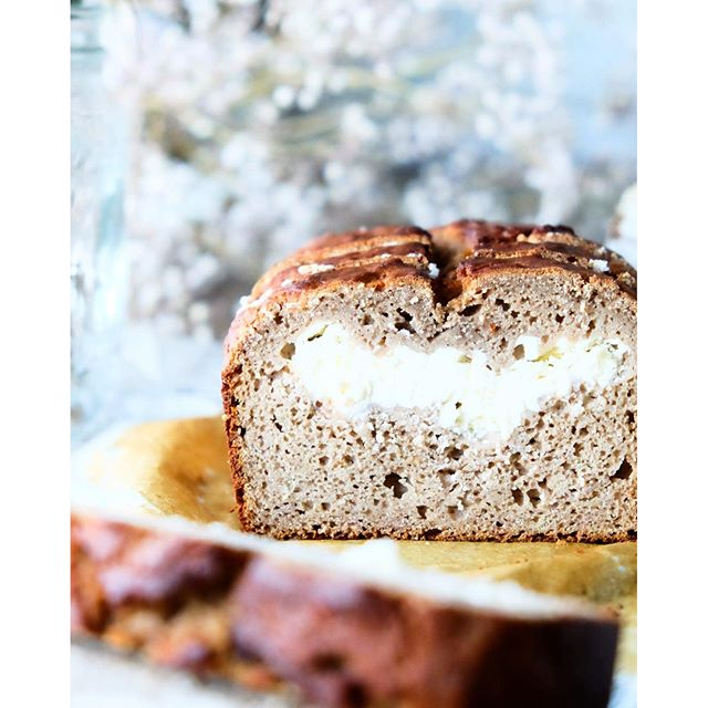 Cream Cheese Stuffed Banana Bread