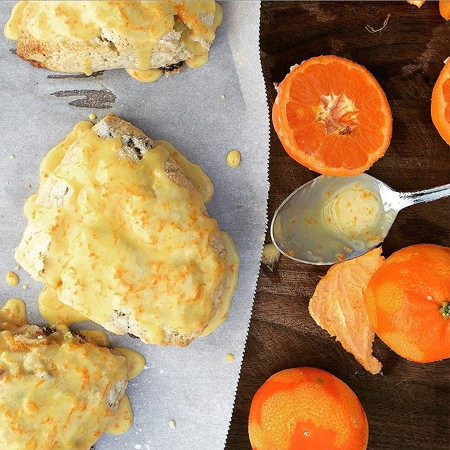 Citrus Glazed Tangerine Scones