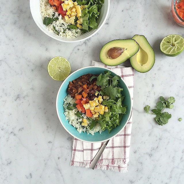 Chilli Roasted Vegetable Chilli Bowl With Cilantro Lime Rice