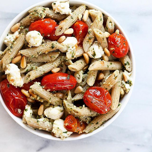 Summer Rule #1: Always have pesto in the fridge so you can make a spontaneous pasta salad with…