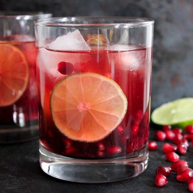Pomegranate Gimlets