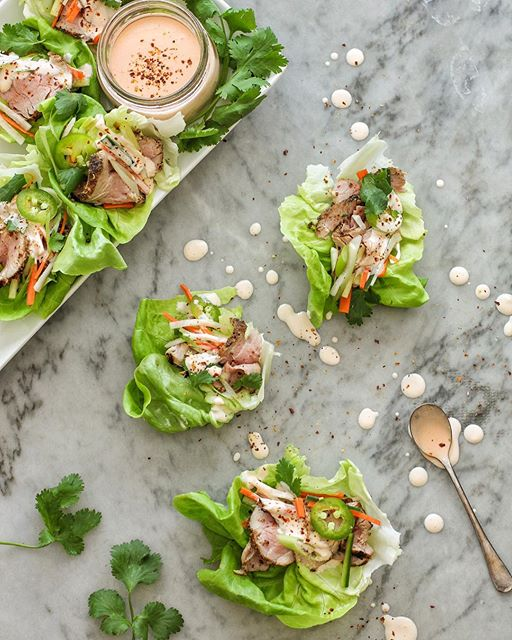 Pork Bahn Mi lettuce cups with all the crunchy veg and pickle-y bits are up on the blog now. Makes…