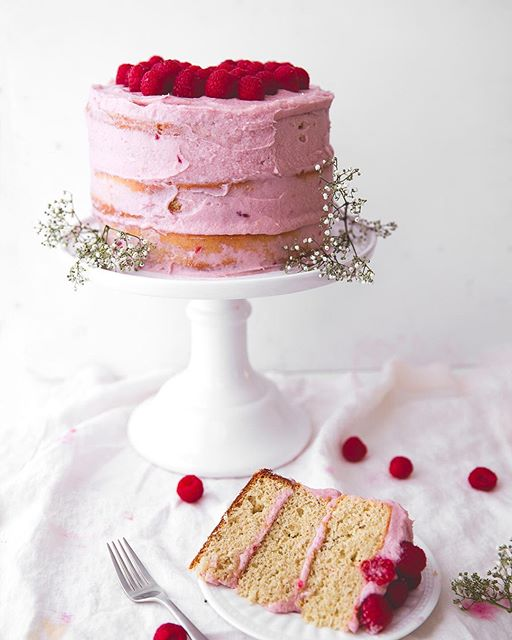 Forget banana bread, #banana #cake is 10x better. This banana cake with #raspberry frosting makes…