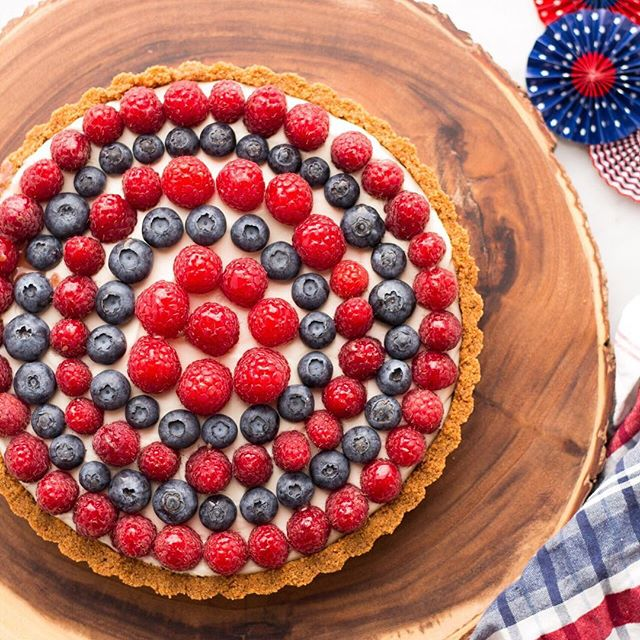 You need to get your hands on this Red, White and Blueberry Tart.#feedfeed #finestberries