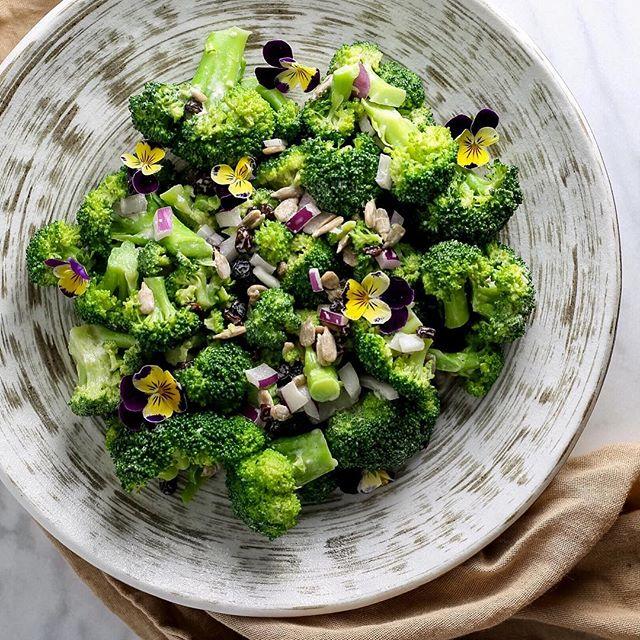Broccoli Salad With Miso Tahini Sauce
