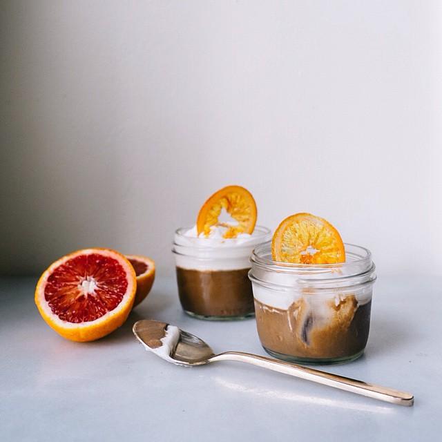 Pots De Creme With Maple Bourbon Whipped Cream