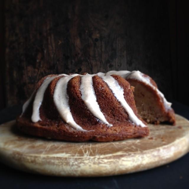 Cauliflower & Banana Spice Bundt Cake With Cinnamon Glaze