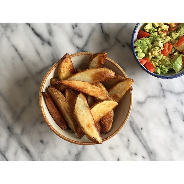 Baked Chips With Sea Salt & Fresh Squeezed Lemon