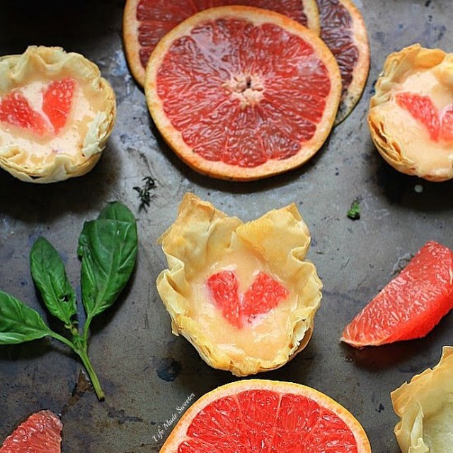 Grapefruit Curd Phyllo Cups
