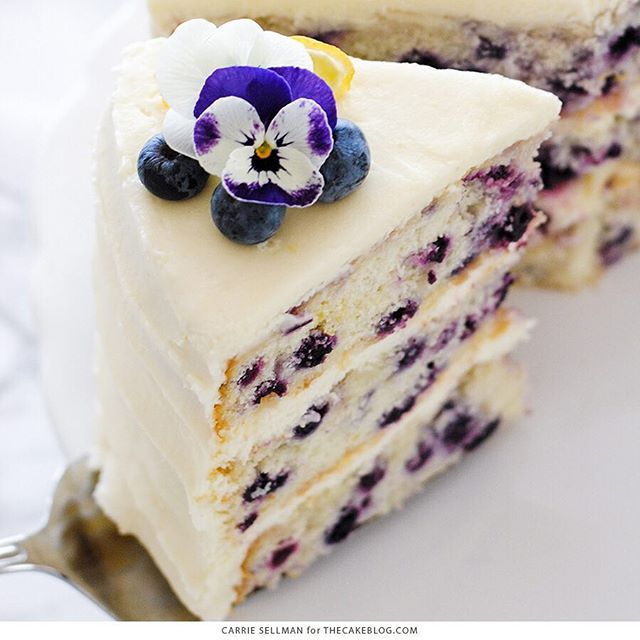 Blueberry Cake Recipe With Frosting