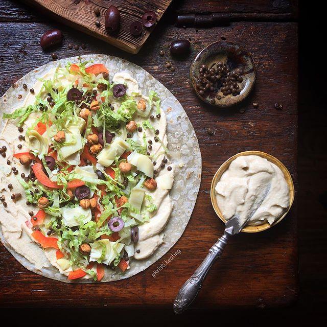 Mediterranean Hummus Wrap