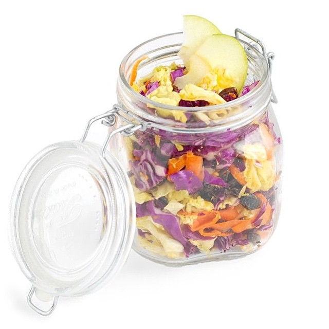 Orange, Miso And Cabbage Salad Jar