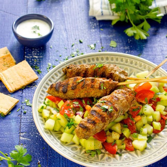 Persian Lamb Kefta Kebabs With Parsley, Cilantro & Mint