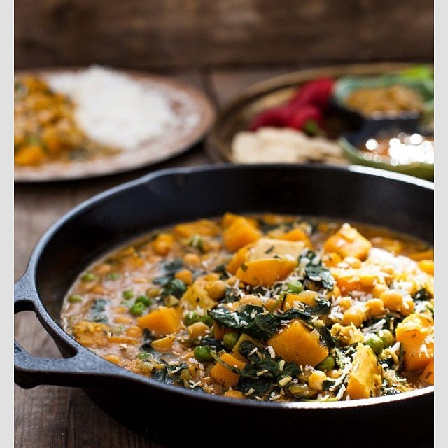 Butternut Squash Curry With Chickpeas