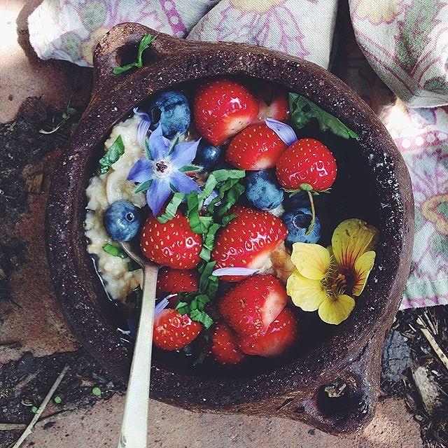Garden-topped Oatmeal