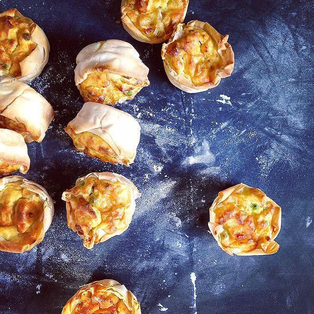 Savory Potato & Cheese Phyllo Cups