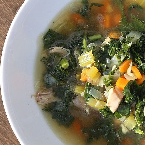 Kale, Chicken And Spinach Soup