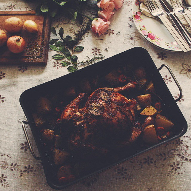 Nham Roasted Chicken In Beer & Rosemary