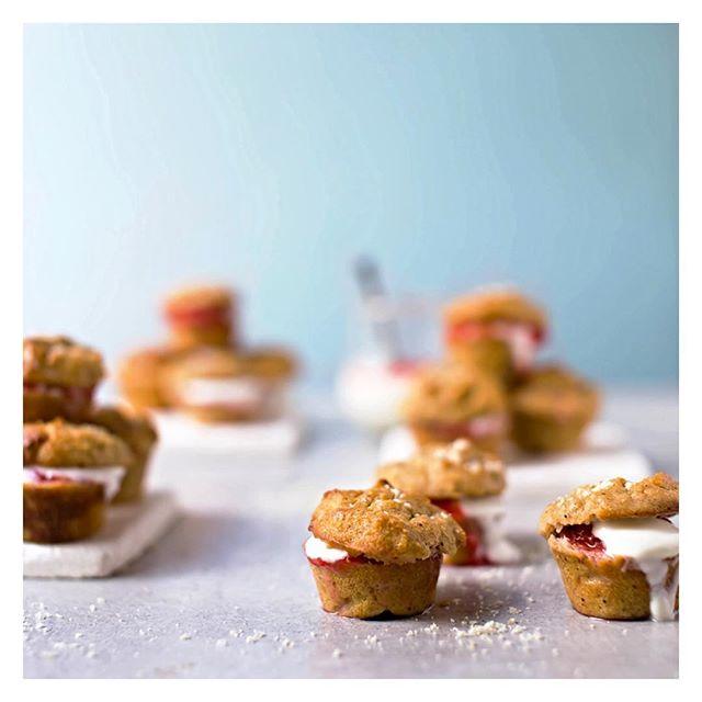 Mini Strawberry And Coconut Cream Scones