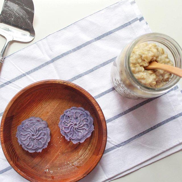 Purple Sweet Potatoes With Oatmeal