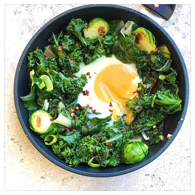 EASY GREEN EGGS: My fave warming breakfast to enjoy during the winter months. So quick and healthy -…