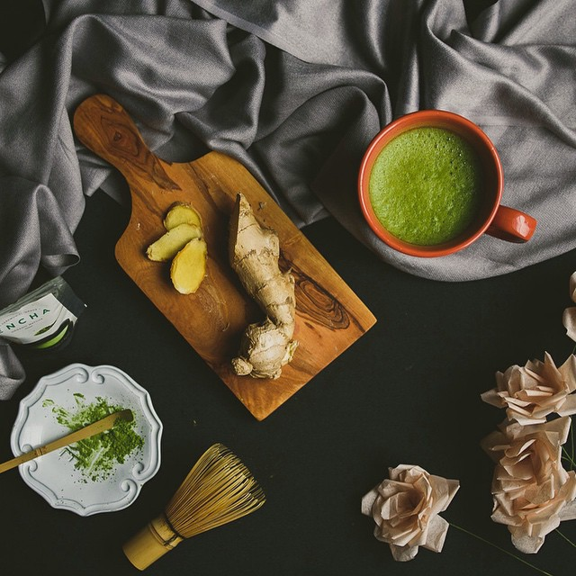 Ginger Matcha Tea