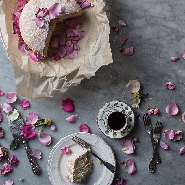 Rose And Saffron Scented Zabaglione Cake