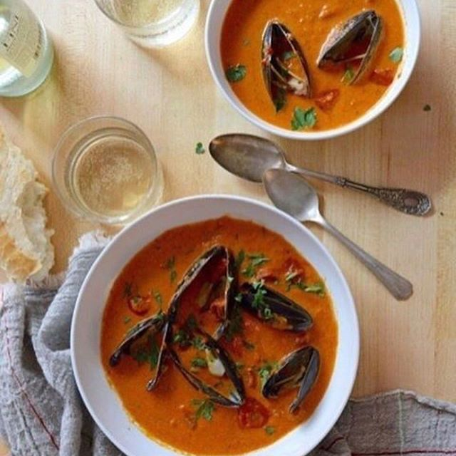 Mussel Stew With Smoky Tomato Sauce And Cured Chorizo
