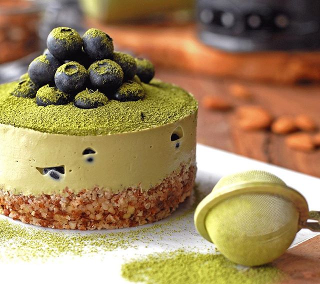 vegan matcha cake in cashew crust recipe the feedfeed. Black Bedroom Furniture Sets. Home Design Ideas
