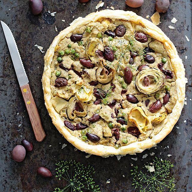 Olive And Artichoke Tart