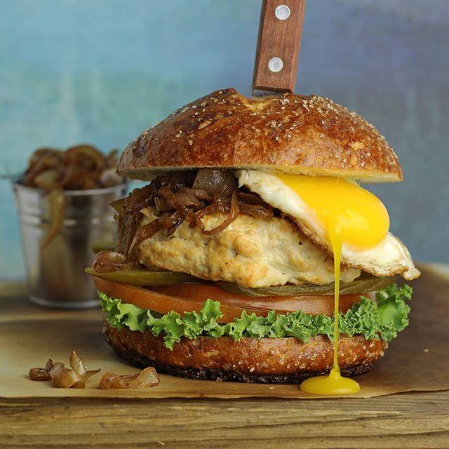 Chicken Burger And Egg Sandwich