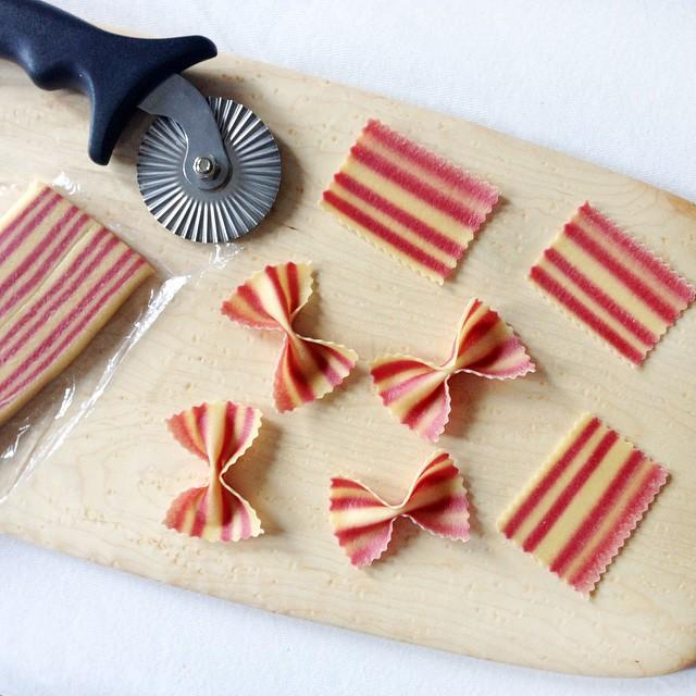 Beet Striped Pasta