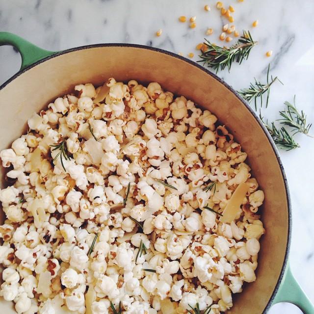 Parmesan And Rosemary Popcorn