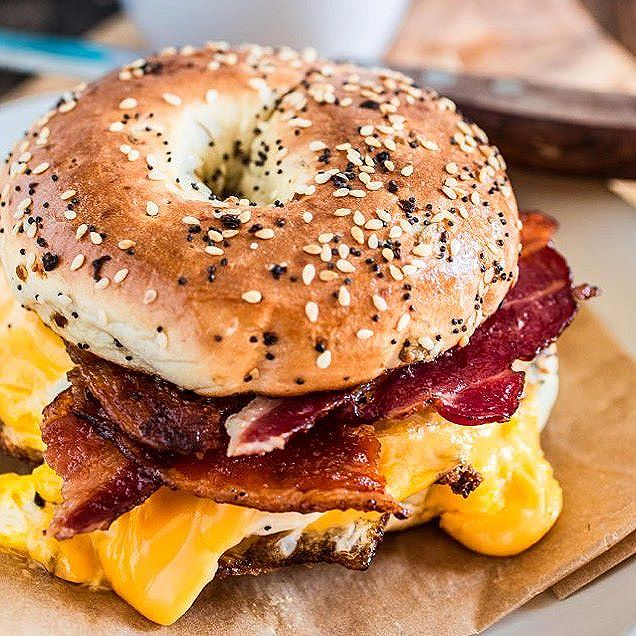 New York Style Bacon, Egg And Cheese Bagel Sandwich ...