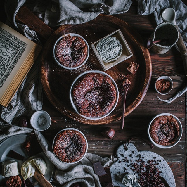 Chocolate Chip & Goat Cheese Soufflé With Vanilla
