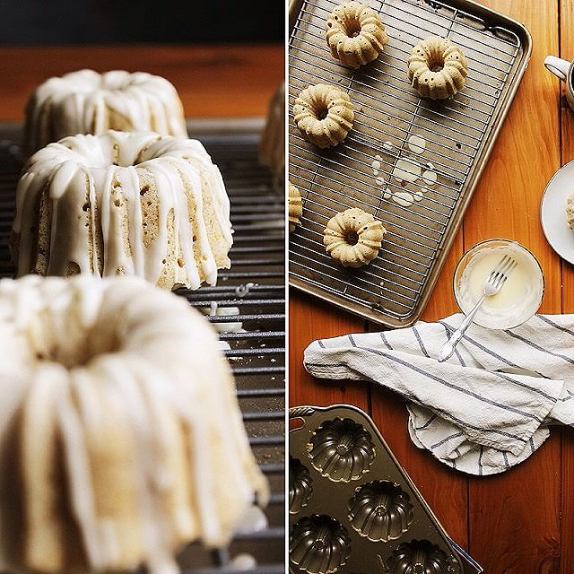 Mini Glazed Orange And Cardamom Bundt Cakes