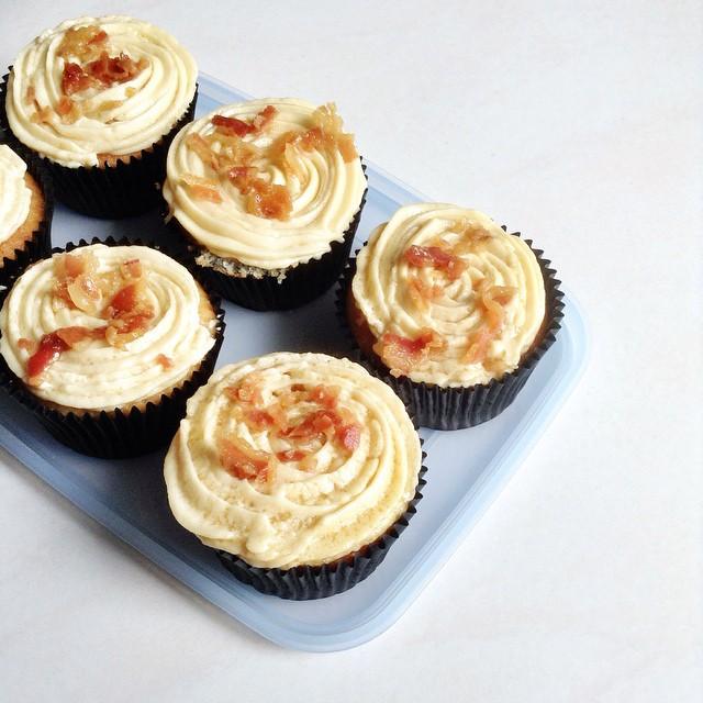 Maple Bacon & Vanilla Cupcakes