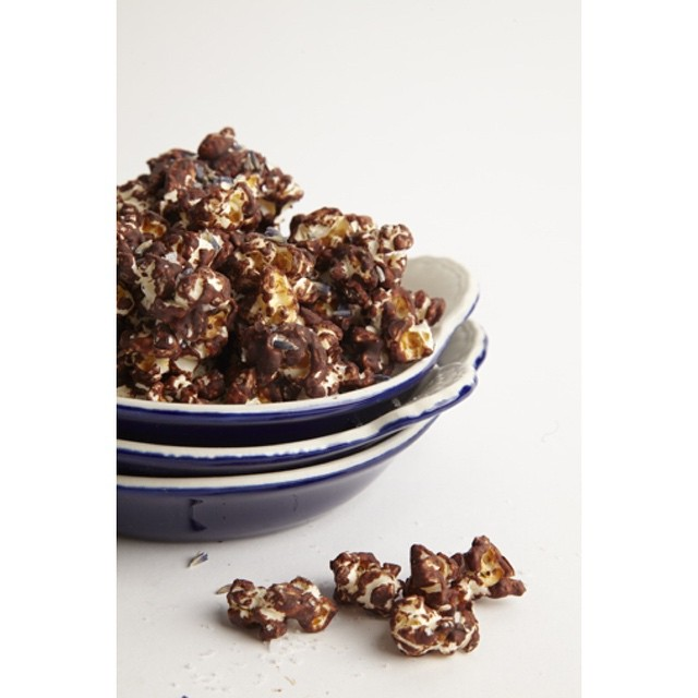 Chocolate Covered Mint & Lavender Popcorn