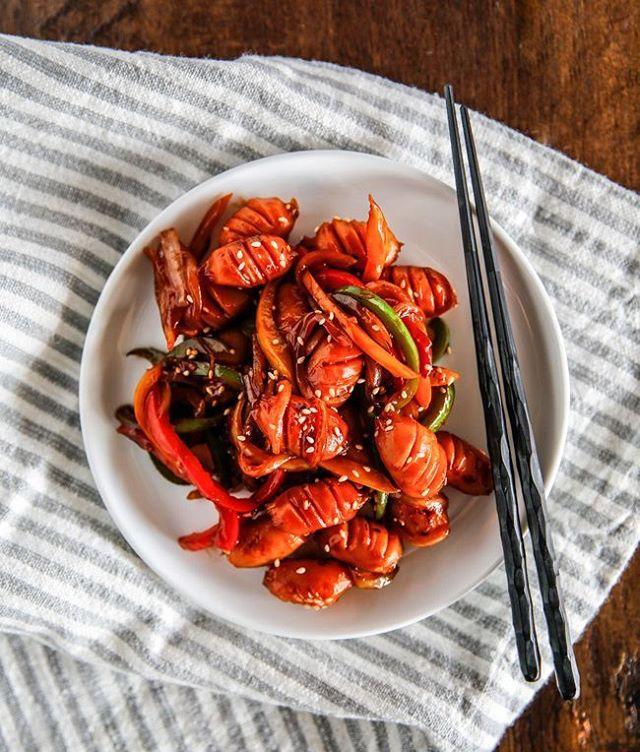 Korean Style Sausage Stir Fry