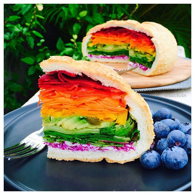 Rainbow Super Sandwich Recipe The Feedfeed