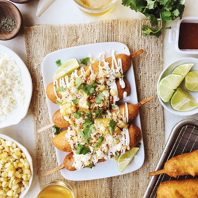 Mexican Street Style Corn Dogs With