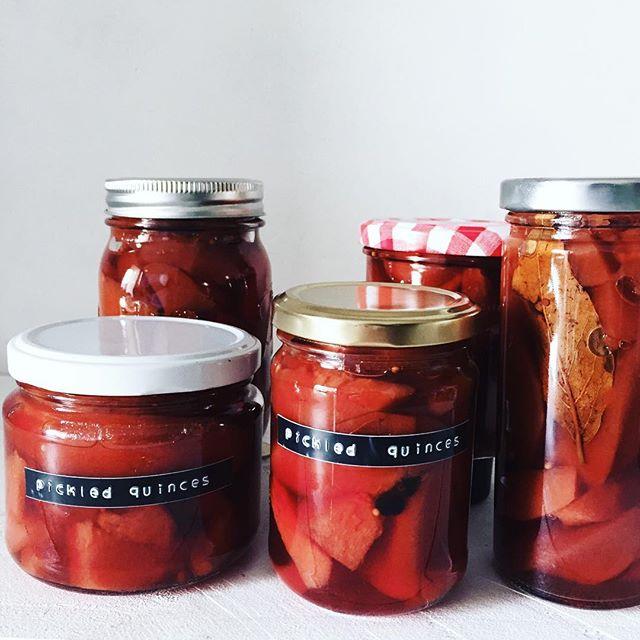 Pickled Quinces