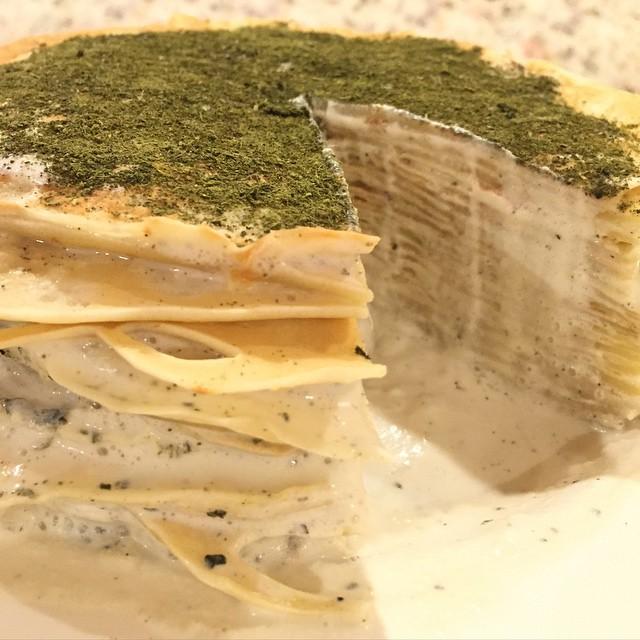 Matcha Ginger Crepe Cake
