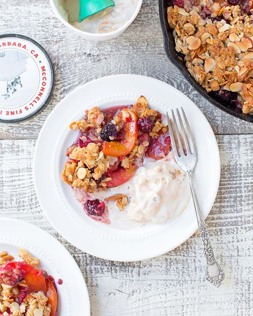Peaches are peaking right now so make the most of the season and bake up my Peach Berry Crisp ASAP…