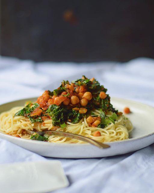 Vegan Kale And Chickpea Pasta