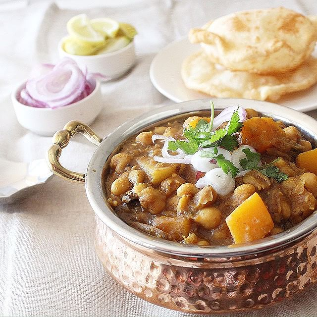 Chickpea Butternut Squash Stew With Fried Dough