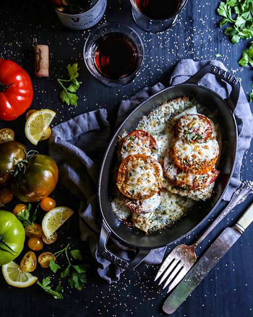 Fish Pizzaiola With Fresh Tomatoes And Mozzarella