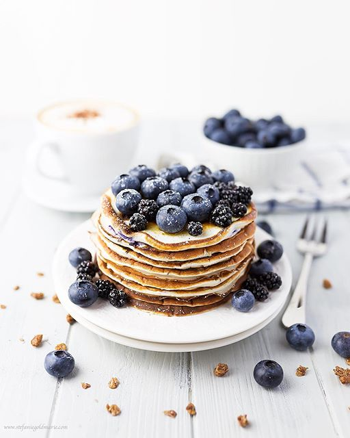 Blueberry Buttermilk And Greek Yogurt Pancakes